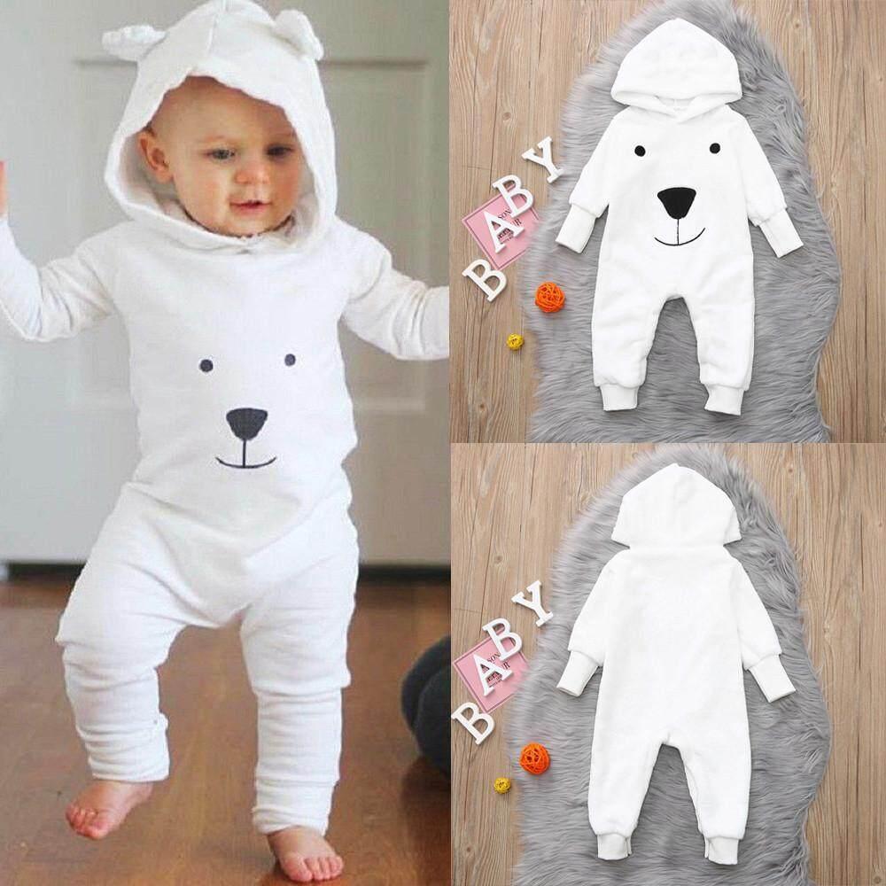 Infant Baby Boys Girls Warm Cartoon Chicken Hoodies Romper Jumpsuit Outfits