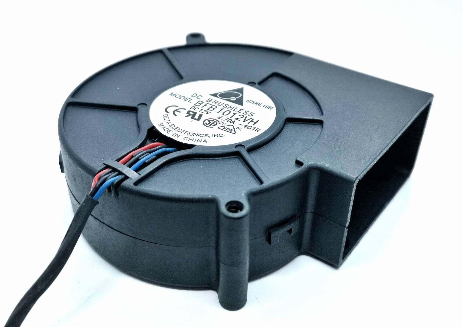 """พัดลมหอยโข่ง (Centrifugal Fan) 3.5"""" BFB1012VH 12VDC 2.70A ยี่ห้อ DELTA แท้"""