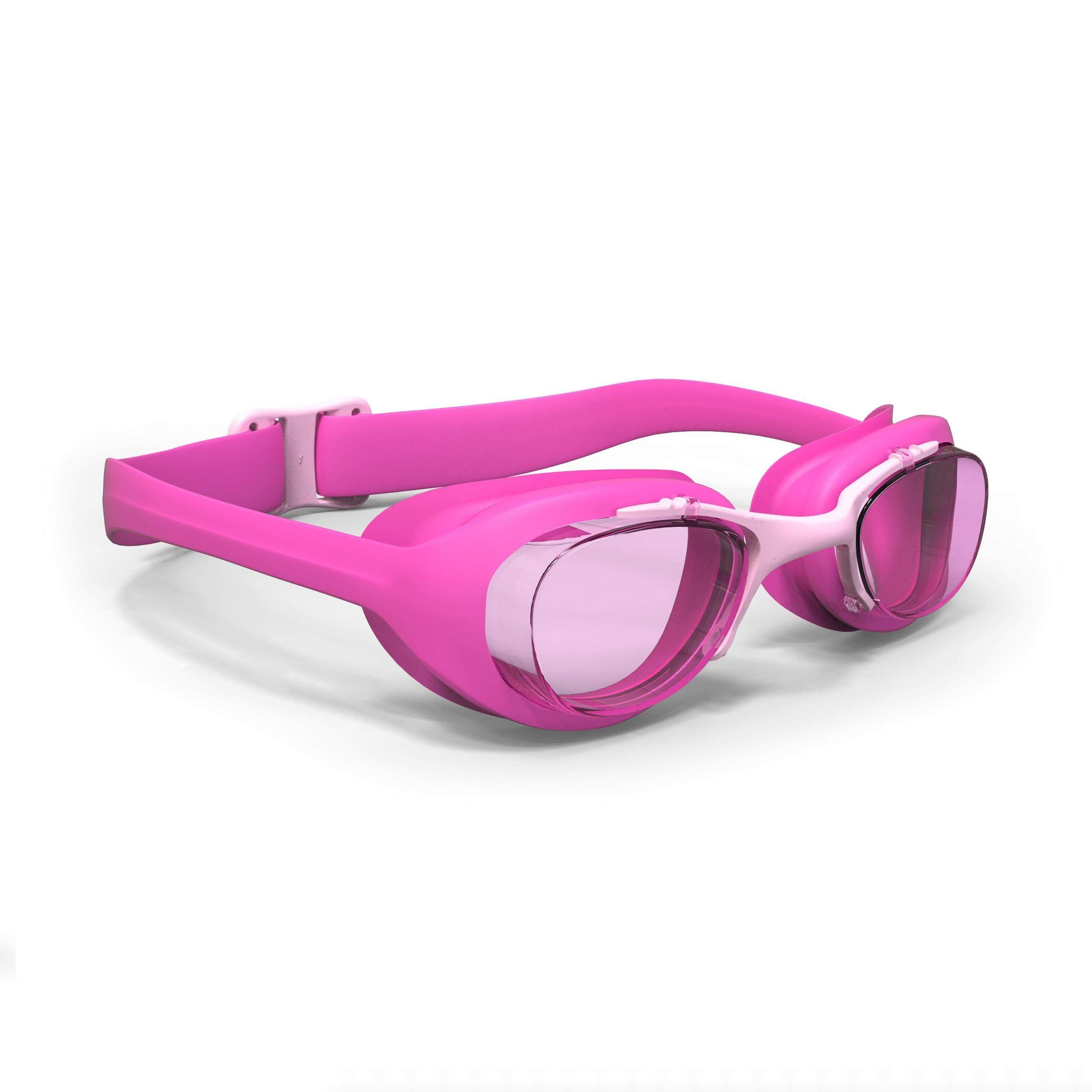 [ด่วน!! โปรโมชั่นมีจำนวนจำกัด] แว่นตาว่ายน้ำรุ่น 100 XBASE ขนาด S (สีชมพู) สำหรับ ว่ายน้ำ