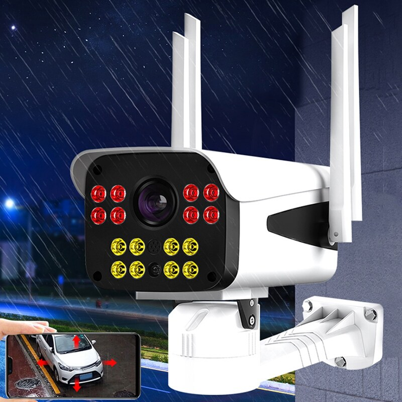 Home Security Camera 1080P WiFi Camera Outdoor Surveillance Waterproof Cameras with Night Vision Detection