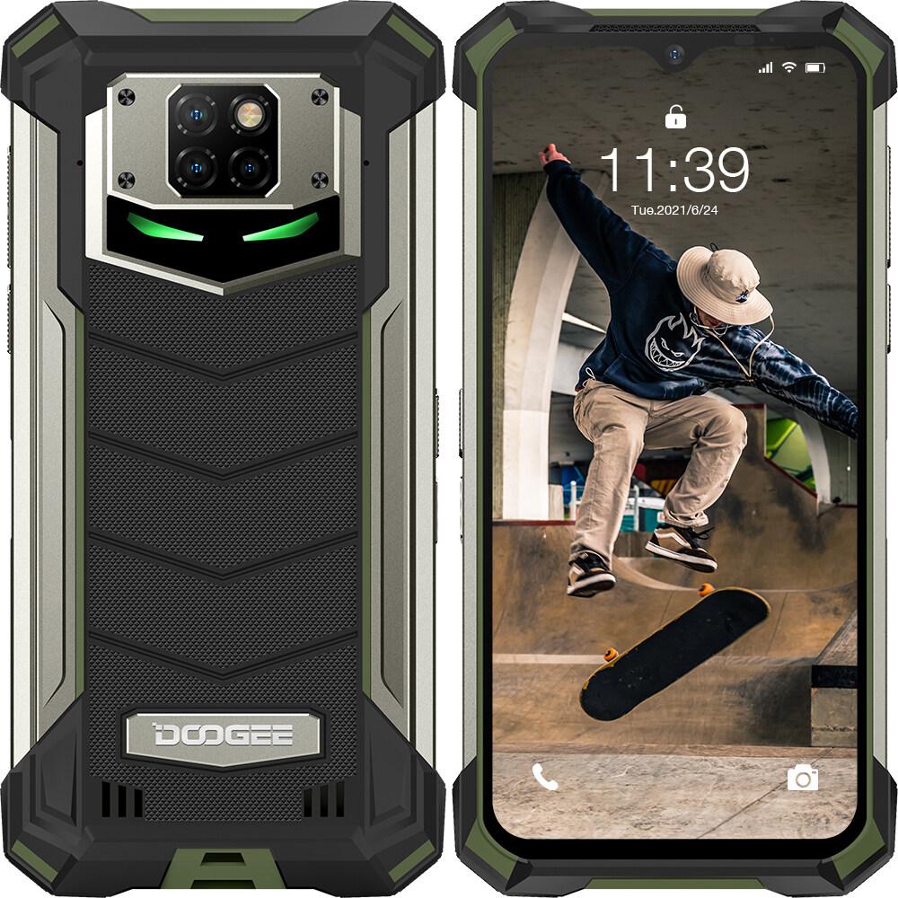 【COD/Free Shipping】ลดราคา DOOGEE Original S88 Pro สมาร์ทโฟนโทรศัพท์มือถือที่ทนทาน, 4G-LTE, 6.3 นิ้ว, 6 + 128GB, การชาร์จแบบไร้สาย 10000mAh, กล้องหลัง AI Triple, NFC Android 10.0 IP68 / IP69K โทรศัพท์