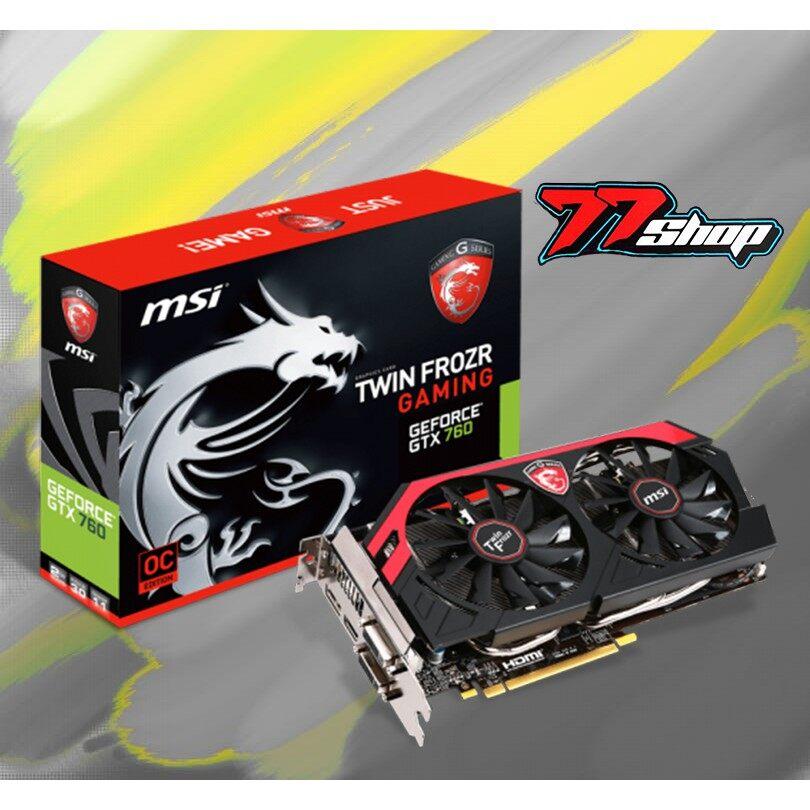 โปรโมชั่น การ์ดจอ Msi Twin Force Gaming Gtx760ti 2gb Oc แรง..เล่นเกมส์โหด ราคาถูก การ์ดจอ การ์ดจอเล่นเกม.