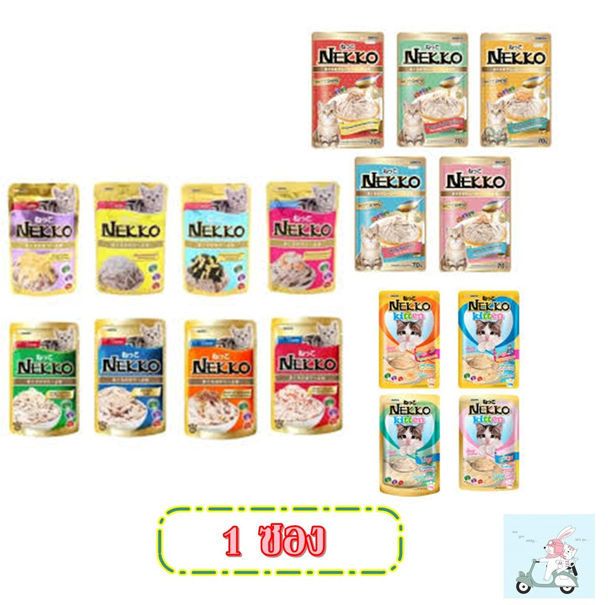 อาหารแมว Nekko 70 G 1ซอง.