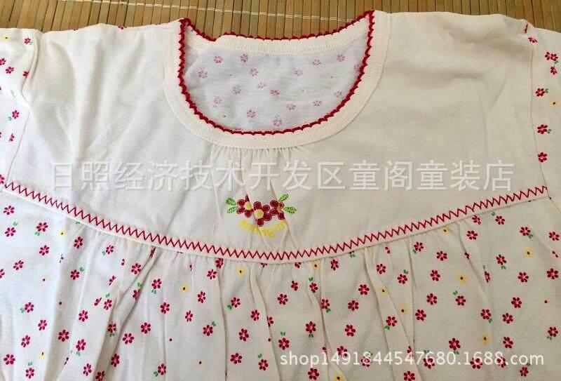 Image 5 for YeeShop ชุดเสื้อผ้าเด็กผู้ชาย/เด็กผู้หญิงแขนสั้นเข้าชุด สไตล์ญี่ปุ่น ลายดอกไม้น่ารัก ไซส์ 80#/XS 90#