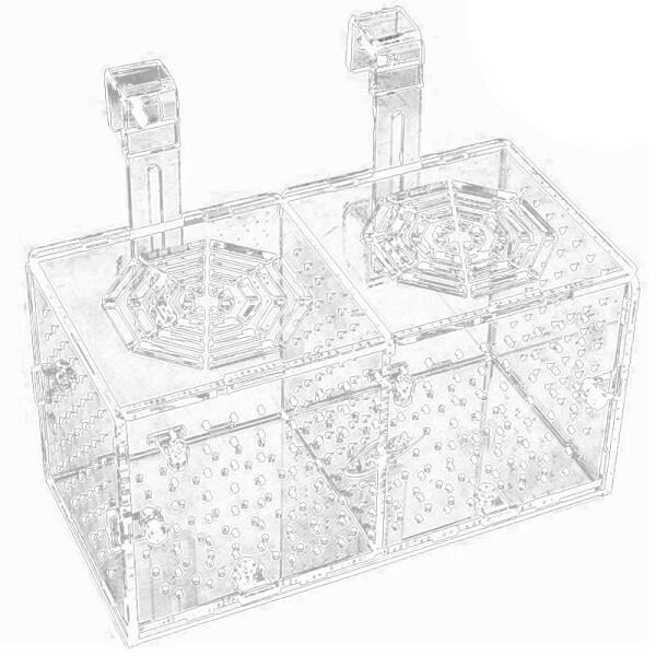 Aquarium Breeding Isolation Box Acrylic Fish Tank Acclimation Hatchery Incubator Holder Divider for Fishes Shrimp