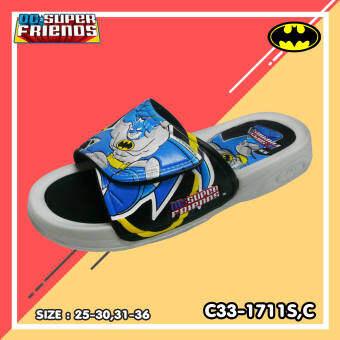 Footniks รุ่น 1711 รองเท้าแตะเด็ก แบบสวม แบทแมน (Batman) ลิขสิทธิ์แท้ DC Super Friends