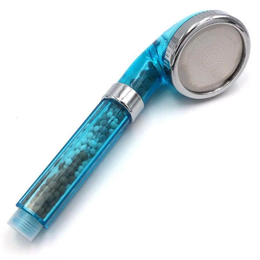 ฝักบัวเกาหลีสีฟ้า ฝักบัวหิน ฝักบัวสปา ฝักบัวกรองน้ํา ฝักบัวอาบน้ำ  Blue Korean Handheld Shower Head.