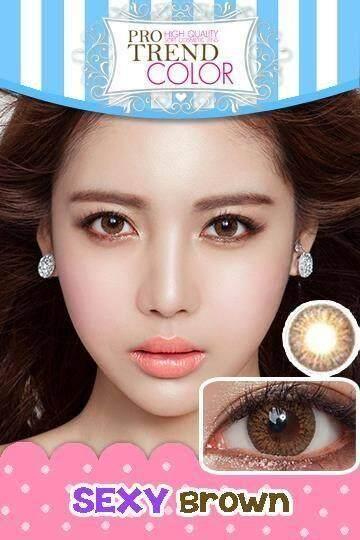 ของแท้ 100% Protrend Color Contact Lens โปรเทรนคัลเลอร์ Contactlens Contactlen Protrendcolor คอนแทคเลนส์ รุ่น Sexy Brown.