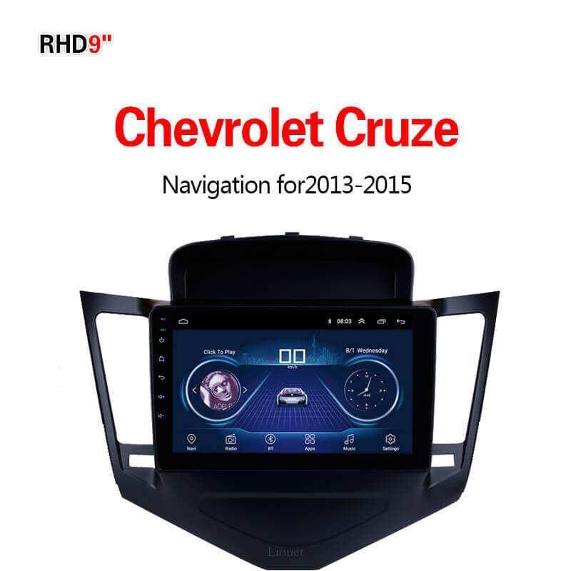 เครื่องนำทาง สำหรับรถยนต์ Chevrolet Cruze 2013-2015 9 Inch Android 8.1 Wifi 1g/16g แผนที่ในการนำทาง By Gointer.