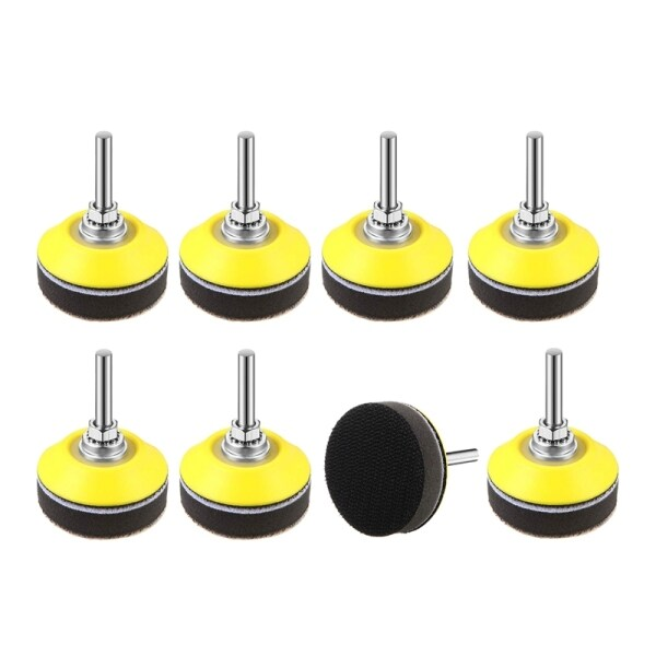 8 Pack Hook and Loop Sanding Pad with Shank Drill Attachment and Soft Foam Layer Buffering Pad, for Sanding Discs