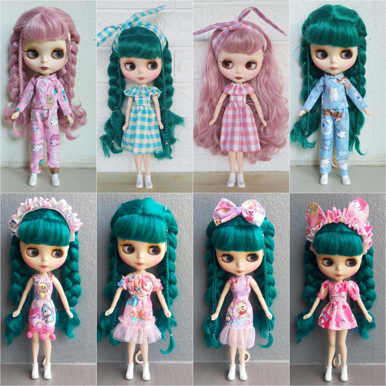 ชุดบลายธ์ บลายธ์ ชุดตุ๊กตาบลายธ์ งานสั่งตัดมีจำนวนจำกัดนะคะ Blythe 1/6 ชุดตุ๊กตา เดรสตุ๊กตา.