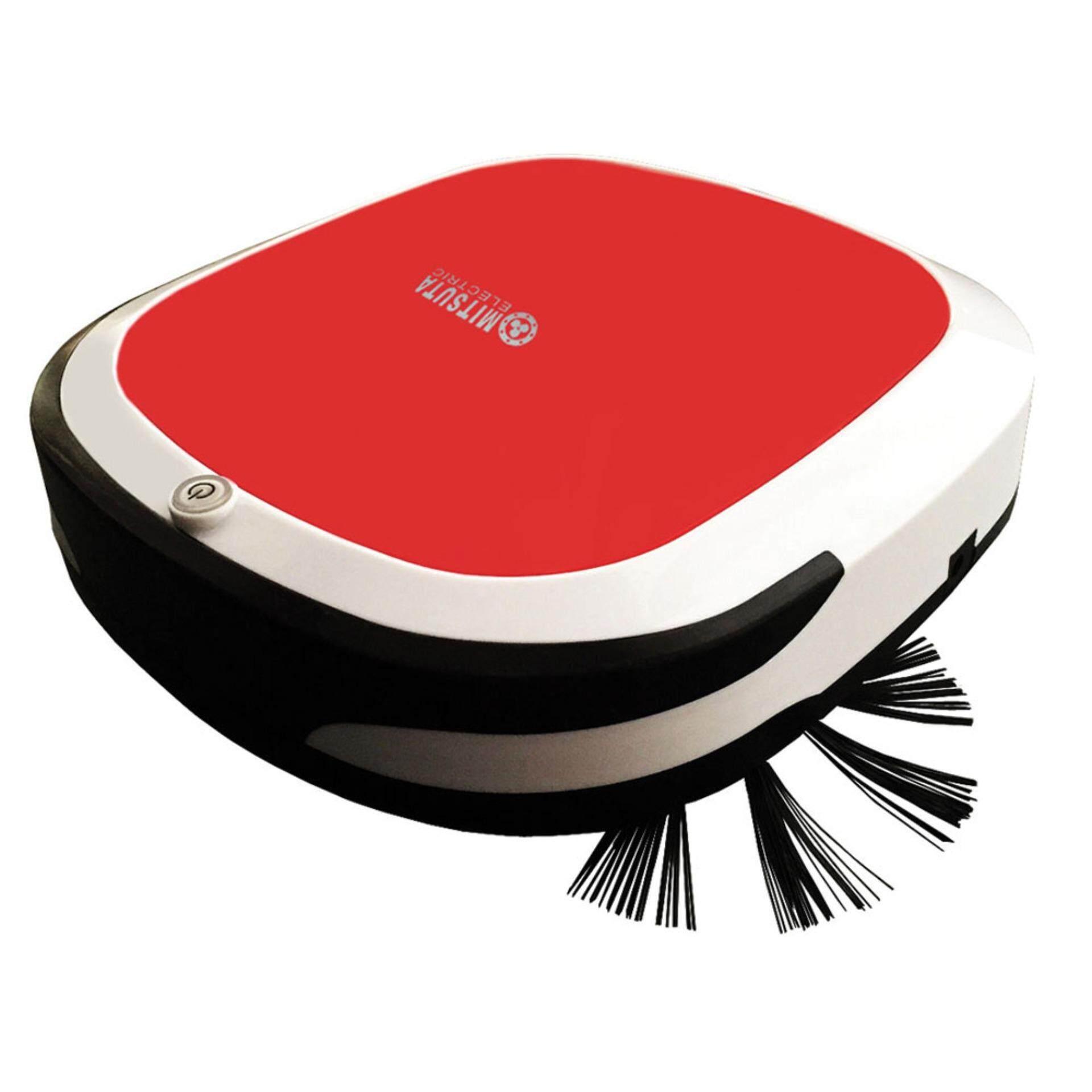 หุ่นยนต์ดูดฝุ่น MITSUTA ถูพื้นอัตโนมัติ รุ่น MRC350 (White/Red) แถม ผ้าถู 2 ชิ้น