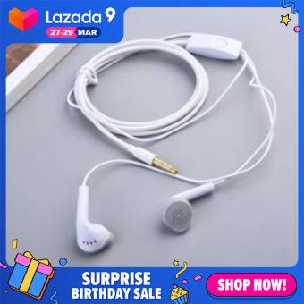 [I ANGEL] หูฟังมีสาย หูฟังชนิดใส่ในหู 3.5 มม. หูฟังกีฬาหูฟัง สำหรับ Samsung A50 A70 A51 A71 S5830 Galaxy S6 S7 edge S8 8 9 พร้อมไมโครโฟน
