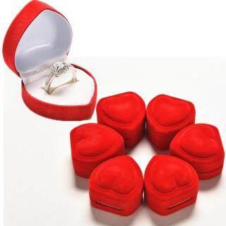 JZ Hộp Nhẫn Hình Trái Tim Sang Trọng, Hộp Đựng Trái Tim Tình Yêu Màu Đỏ Hộp Trưng Bày Trang Sức thumbnail