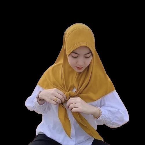 ผ้าคลุมฮิญาบ ฮิญาบแฟชั่น ผ้าคลุมสวมสำเร็จ กุ๊กไก่ผ่าหน้า ผ้าไทเกอร์เนื้ัอนุ่ม สีพื้น มีทรงหน้า ขนาดหลาสกรู.