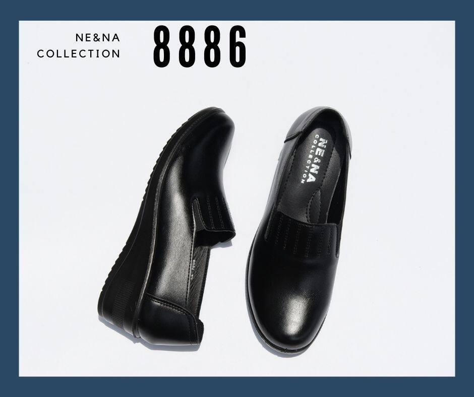 รองเท้าเเฟชั่นผู้หญิงเเบบคัชชูทำงาน Slip On ส้นเตี้ย No. 8886 Ne&na Collection Shoes.