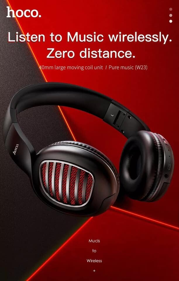 หูฟังแบบครอบหู หูฟังบลูทูธ หูฟังไร้สาย Headphones W23 Brilliant แบบครอบหู รองรับมือถือทุกรุ่น ทั้งระบบ iOS และ Anroid ใช้งานได้ดี ใช้ได้นาน สวยๆเก๋ๆ