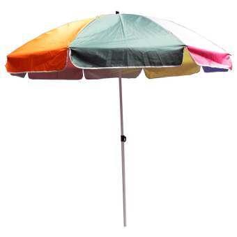 Rikato ร่มสนามใหญ่ ขนาด 42 นิ้ว หนาพิเศษ แข็งแรงสองเท่า (Rainbow)