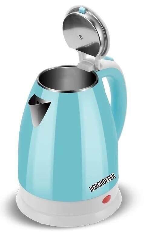 กาต้มน้ำขนาด 2.2 ลิตร Blue Electric Kettle กาต้มน้ำไร้สาย กาต้มน้ำสแตนเลส กาต้มน้ำไฟฟ้า กาต้มน้ำร้อน By Gam Bol.