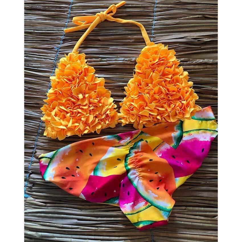 32a75bf0340 2019 Brazilian Bikini Set Sexy Swimwear Women Swimsuit Halter Bathing Suits  Beach Wear Swim Print
