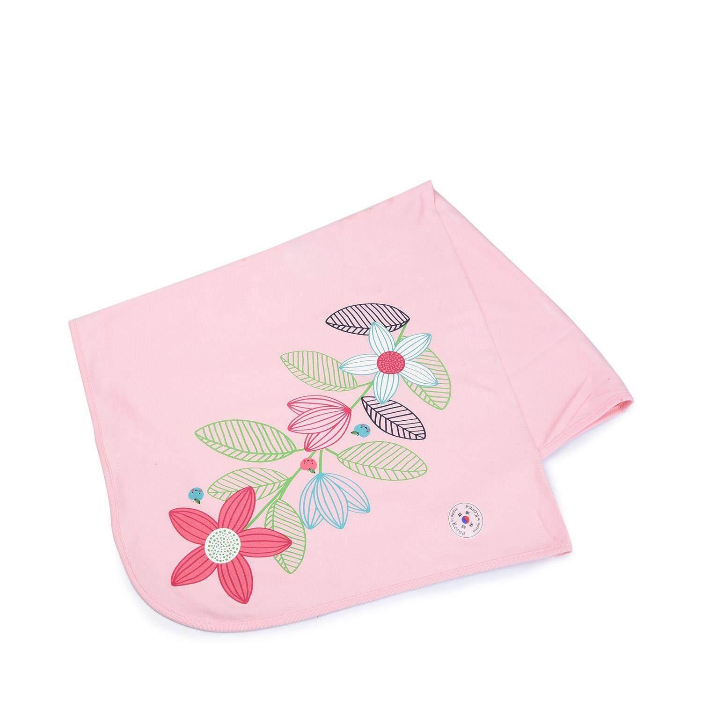 ผ้าห่อตัวเด็ก รุ่น AG062FJ18 ลายดอกไม้ สีชมพู ขนาด 81 x 81 ซม