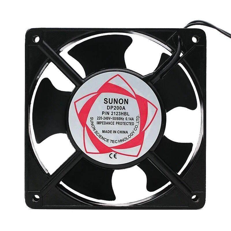 พัดลม 4.5 นิ้ว 220v Cooling Fan ตัวถังเหล็ก ระบายความร้อน- Black.