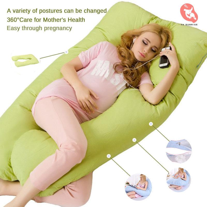 มัลติฟังก์ชั่นตั้งครรภ์ หมอนรูปตัวยูผู้หญิง ผ้าฝ้ายแท้ หมอนข้างที่ถอดออกได้ หมอนรองครรภ์ ที่นอนตั้งครรภ์ หมอนนอน หมอนหนุนตัวยู เบาะนอนคนท้อง.