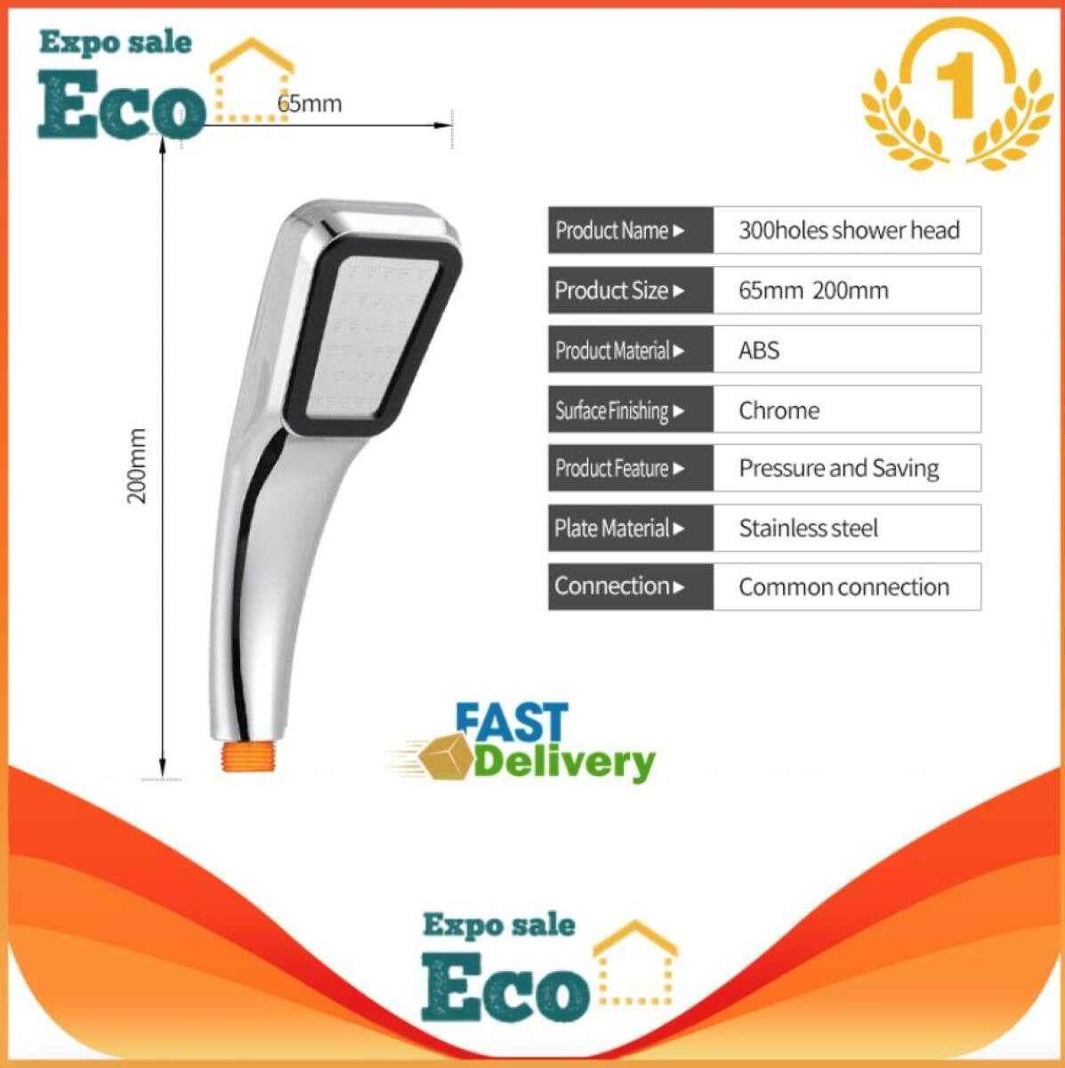 Eco ฝักบัวแรงดันสูง ฝักบัวเกาหลี ช่วยเพิ่มแรงดันน้ำ และประหยัดน้ำ Spa Energy Spray Shower Head ฝักบัวประหยัดน้ำ ฝักบัวอาบน้ำ (silver).