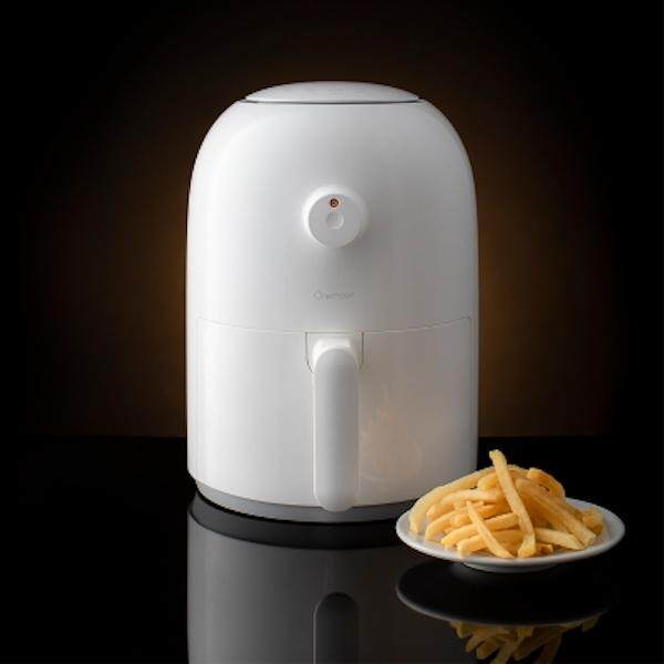 Xiaomi หม้อทอดไฟฟ้า หม้อทอดไร้น้ำมัน Mijia Onemoon Air Fryer Household Intelligent No Fumes High Capacity Electric Fryer 2l 800w French Fries Machine 220v By Dds