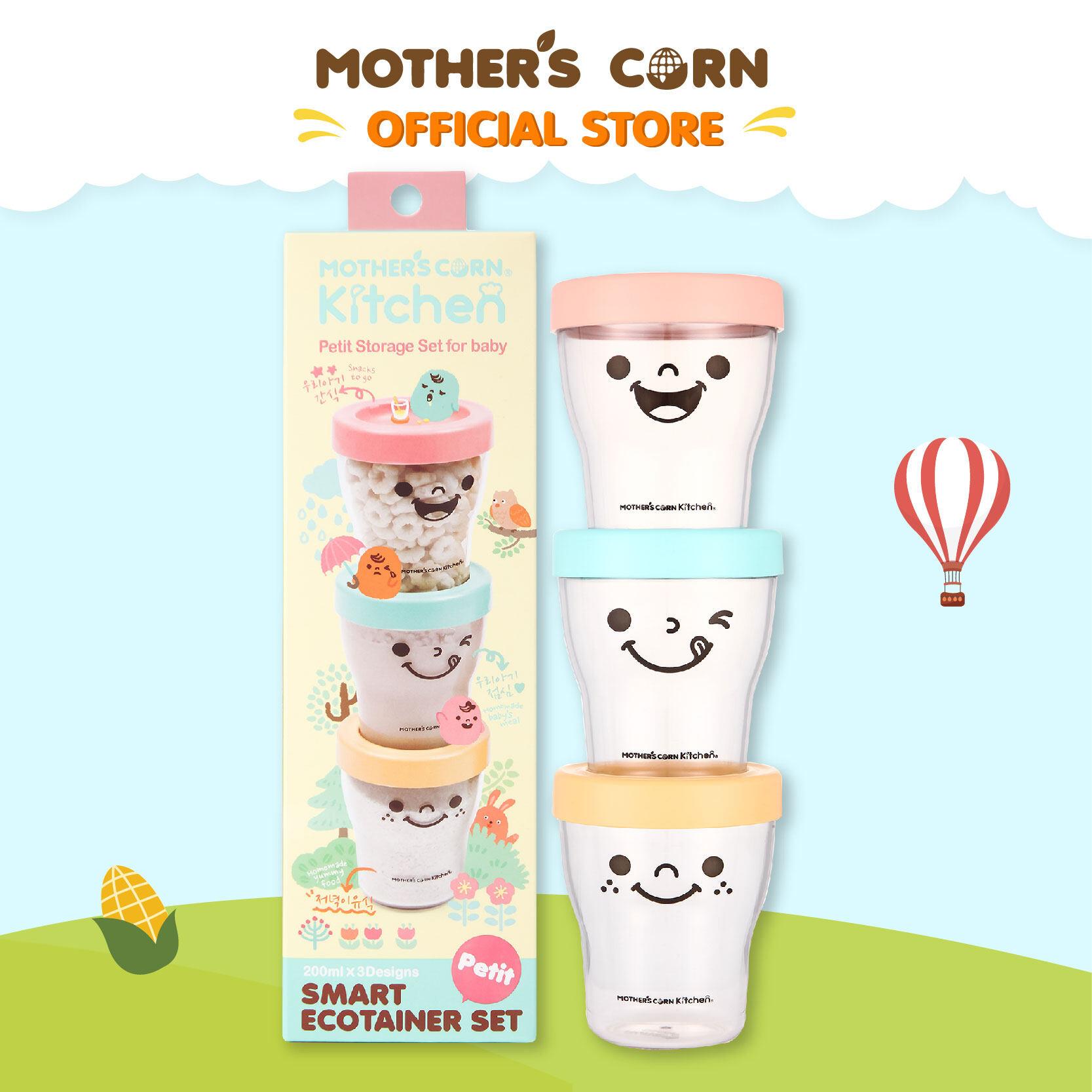 Mothers Corn Ecotainert Set มาเธอร์คอน ถ้วยยิ้มสำหรับเก็บอาหาร.