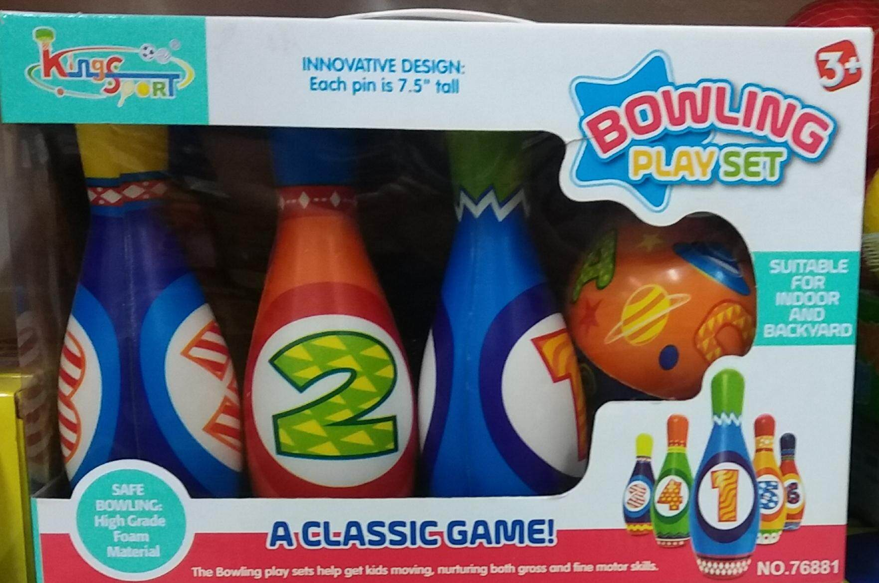 Bowling Play Set ของเล่นเด็ก 3+ ภายในกล่องมี 6 Pin 1 Ball สีสรรสดใส พกพาสะดวก ส่งฟรี By Cm Shop.