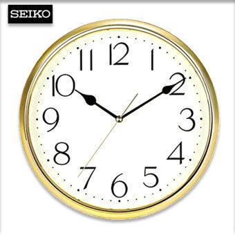 Velashop นาฬิกาแขวน SEIKO รุ่น QXA001G, QXA001 สีทอง ประกันศูนย์ 1 ปี