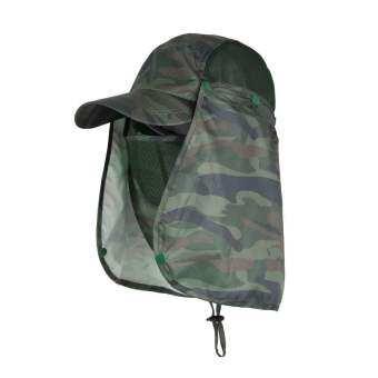 SUPER D SHOP หมวกผ้ากันแดด หน้ากากบังแดดร้อน ระบายอากาศดี ปิดหน้าถีงคอรอบ 360 สามารถถอดที่ปิดหน้าและปีกได้ UPF50+ sunproof cover Cap