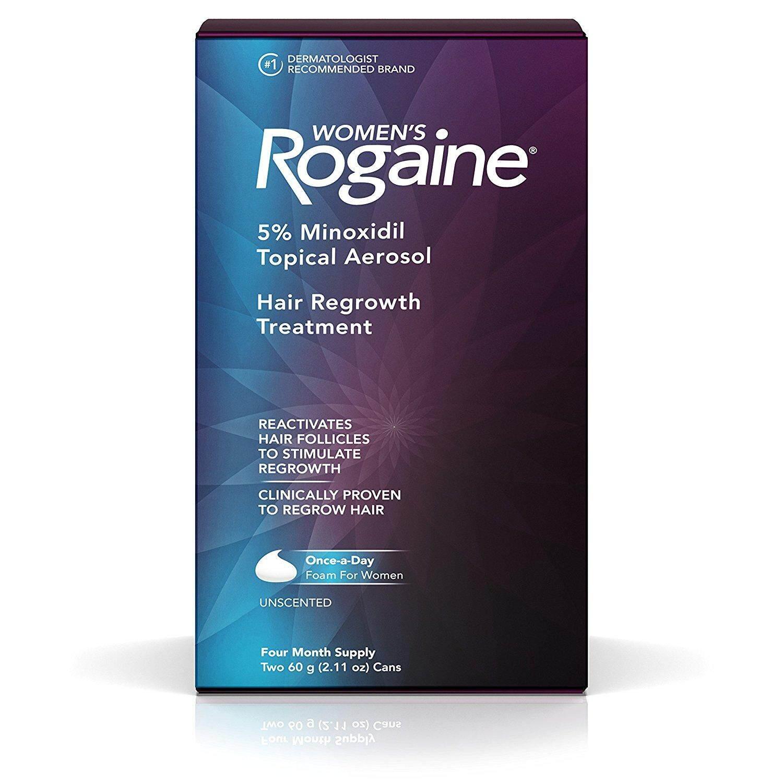 Rogaine Foam 5% ไมนอกซิดิล ยาปูลกผมผู้หญิง (2 ขวด สำหรับ 4 เดือน) Usa แท้.