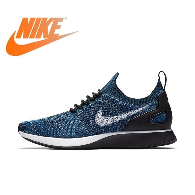 Original NIKE_AIR ZOOM MARI AH FLYKNIT_RACER Men's Running Shoes Lace-up Athletic Sports outdoor Sneakers Cozy 918264Leisure Sepatu Bernapas Nyama
