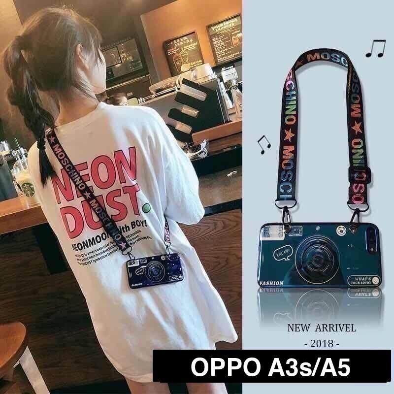 Case Oppoกล้องถ่ายรูป แถมสายสะพาย และขาตั้ง ยืดหดได้ For... Oppo A3s/a5、a37, A71、f5、f7、f9、a83、finex , R17 Pro ,a7,f11pro,r9s,r9spro จัดส่งโดยkerry Express By B&o Casephone.