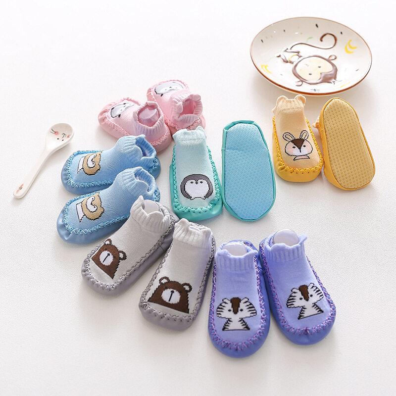 รองเท้าเด็กหัดเดิน รองเท้าหัดเดินลายน่ารัก รองเท้าเด็กกันลื่น พื้นหนังสังเคราะห์บุฟองน้ำ นิ่มมากกก สำหรับน้องๆ 3-36เดือน A45.