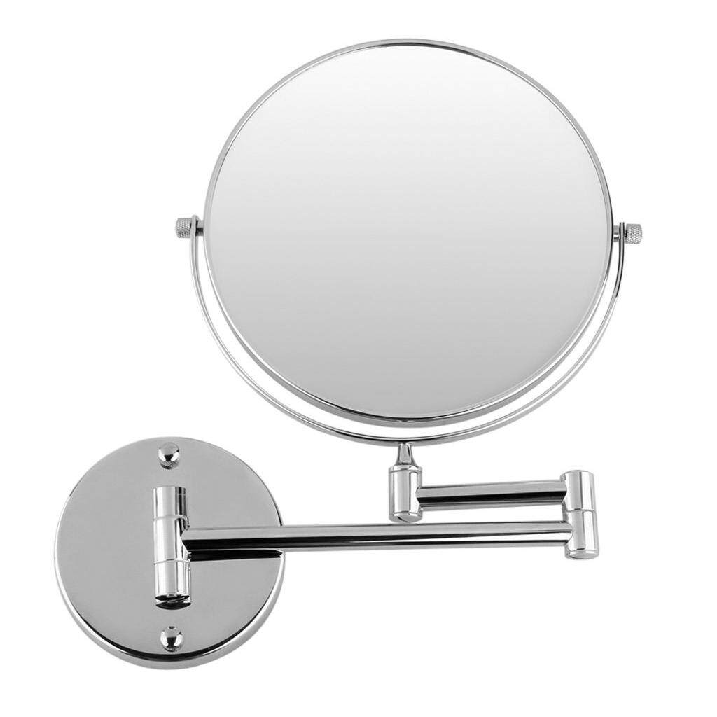 Chrome round 8 wall mirror vanity mirror cosmetic mirror double-sided 7X magnifying mirror