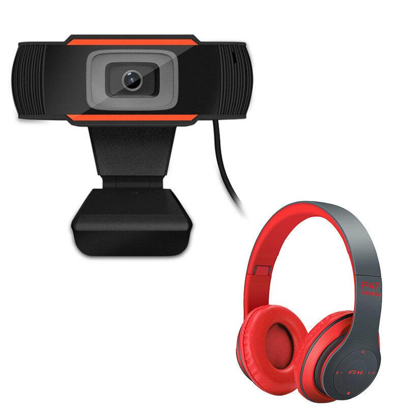 มาพร้อมกับชุดหูฟังบลูทู ธ P47 ฟรี Webcams กล้องเครือข่าย Webcam 1080p หลักสูตรออนไลน์ กล้องคอมพิวเตอร์ การประชุมทางวิดีโอ อุปกรณ์การสอน การเรียน.