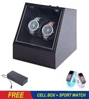 (Free Sport Watch+Cell Box) Automatic Watch Winder Watch Display Storage Organizer Watches Case Auto-
