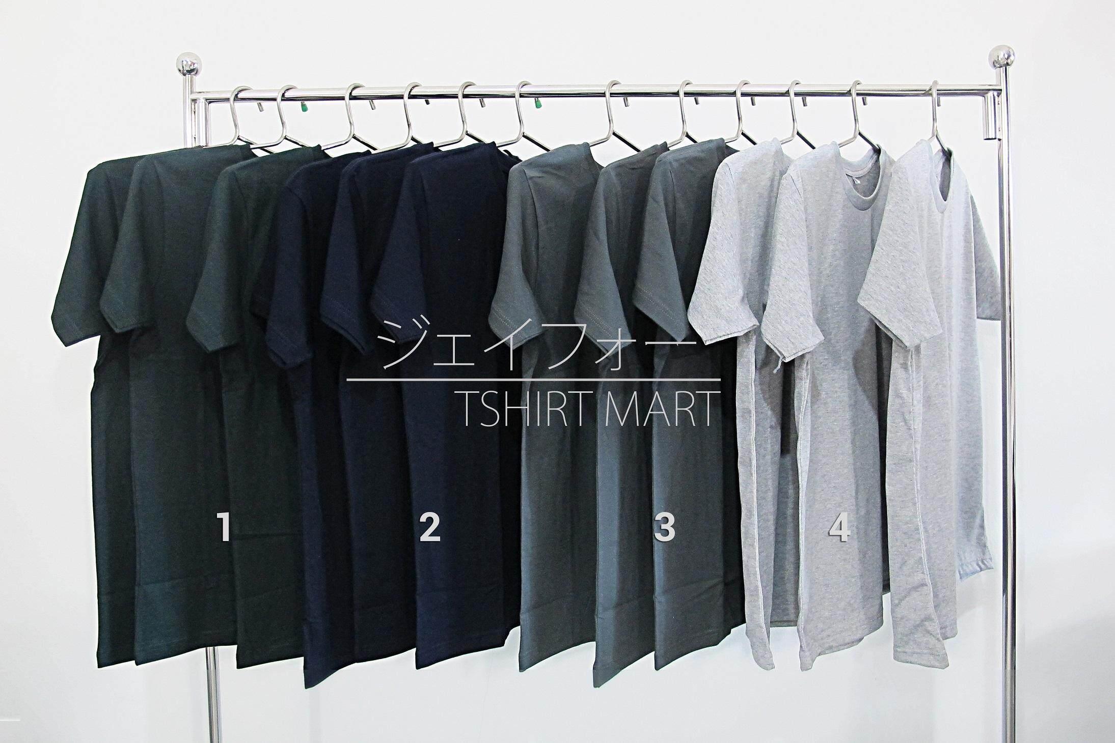 เสื้อยืด Cotton 100% คุณภาพดี ไม่ยืดไม่ย้วย รุ่น Jt-308 2 ตัวขึ้นไปจัดส่งฟรี By Jfourtshirtmart By Jfourtshirtmart.