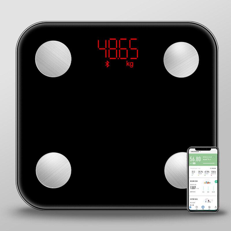 Bluetooth Scale เครื่องชั่งน้ำหนัก และวิเคราะห์ไขมัน Mini Body Scale With APP Android, IOS เครื่องชั่งน้ำหนักอัจฉริยะ เครื่องชั่งน้ำหนักและวัดมวลไขมัน