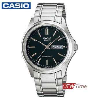 Casio Standard นาฬิกาข้อมือสุภาพบุรุษ สายสแตนเลส รุ่น MTP-1239D-1ADF - Silver-