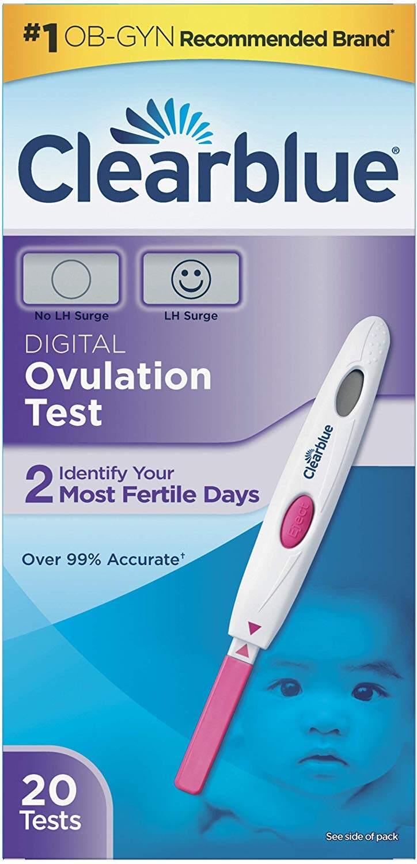อุปกรณ์ทดสอบการตกไข่แบบดิจิตอล Clearblue® Digital Ovulation Test Kit 20 Tests เพิ่มโอกาสตั้งครรภ์ ดีสำหรับคนอยากมีบุตรหรือมีบุตรยาก