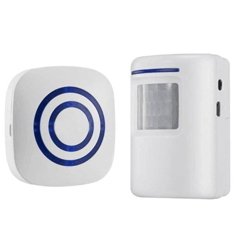 Home Security Alarm, Wireless Driveway Alert: Infrared Motion Sensor Chime with 1 Receiver and 1 Sensor -38 Chime Tunes - LED Indicators