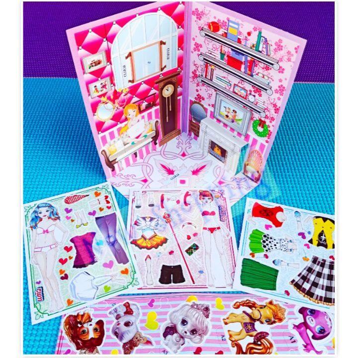 (แพ็ค 2 ชิ้นคละแบบ) ตุ๊กตากระดาษคละแบบ แต่งตัวตุ๊กตา ตุ๊กตาตาหวาน ของเล่นโบราณเพื่อความเพลิดเพลิน ของเล่นเด็ก Vintage Toys.