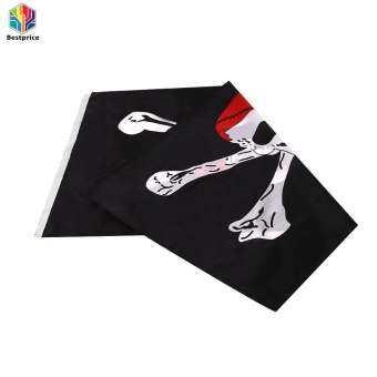 ฮาโลวีนผ้าตกแต่งลายไขว้กะโหลกศีรษะธงโจรสลัดธงโพลีเอสเตอร์ขนาดใหญ่ 90X150 เซนติเมตรแบนเนอร์ - INTL-