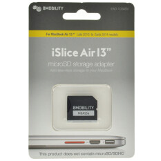"""8mobility iSlice Air 13 - Macbook Air 13"""" Compatible MicroSD Card Adapter - Silver"""