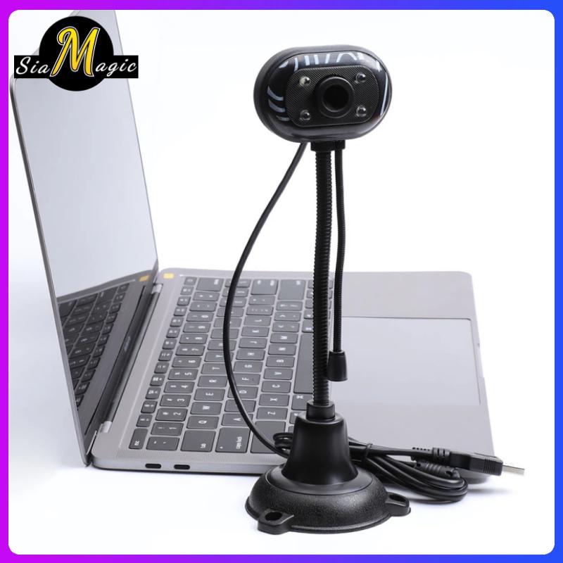 Office Webcam การศึกษาที่บ้าน เว็บแคมพร้อมไมโครโฟน คอมพิวเตอร์ 480p Hd Usb 2.0 พลักแอนด์เพลย์ การประชุมทางวิดีโอ การโทร Win7 Win10 Mac Skype Zoom.