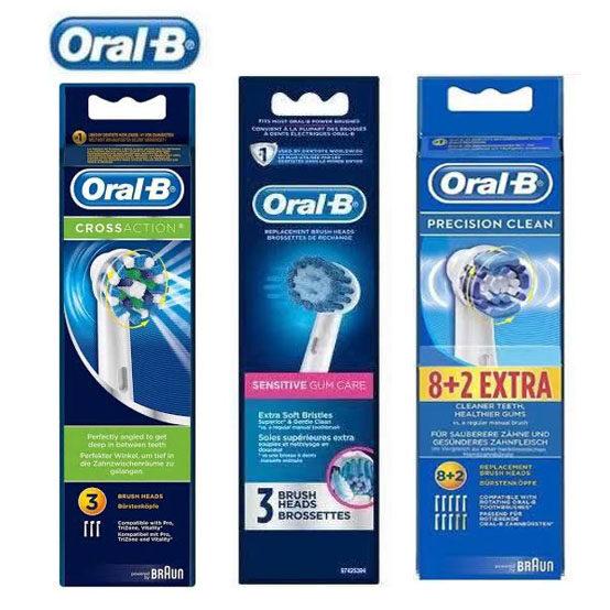 หัวแปรง Oral-B หัวแปรงสีฟันไฟฟ้าของแท้precision Clean Electric Toothbrush Heads (สามารถใช้ได้กับทุกรุ่น)พร้องส่ง.